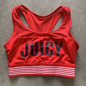 Juicy Couture Red & Black Juicy Sports Bra Size XS
